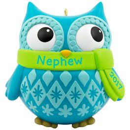 Cute Owl Nephew Ornament, , large