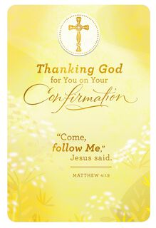 Love From Above Religious Confirmation Card,