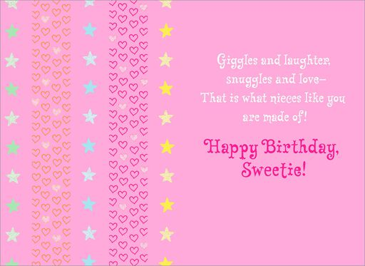 Unicorn Birthday Card for Niece,