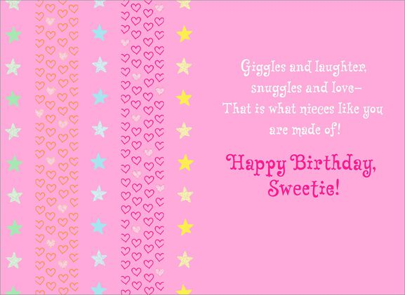 Unicorn Birthday Card for Niece Greeting Cards Hallmark – Birthday Cards for Niece