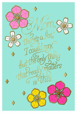 Simply Stated Blue Floral Mother's Day Card