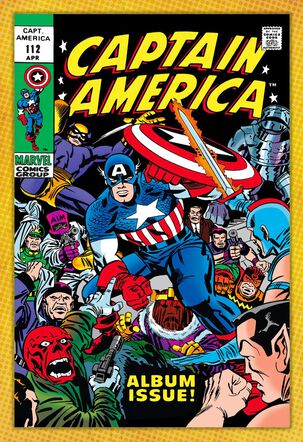 Marvel Captain America Comic Book Cover Father's Day Card
