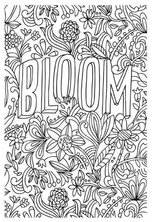 Bloom Just Because Coloring Card