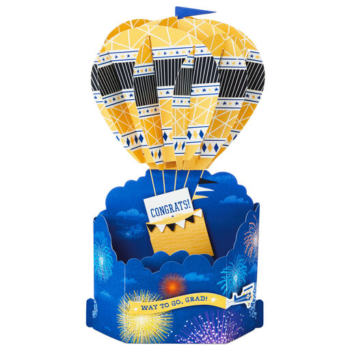 2019 Hats Off to You 3D Pop Up Graduation Card - Greeting
