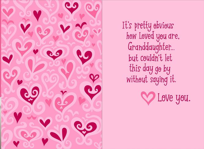 Princess LovedALot Valentines Day Card for Granddaughter