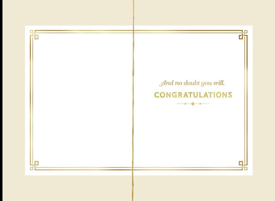 Gold Filigree New Job Congratulations Card Greeting Cards Hallmark