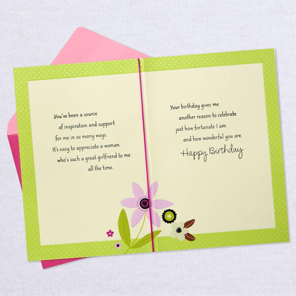 Great Girlfriend Birthday Card For Friend