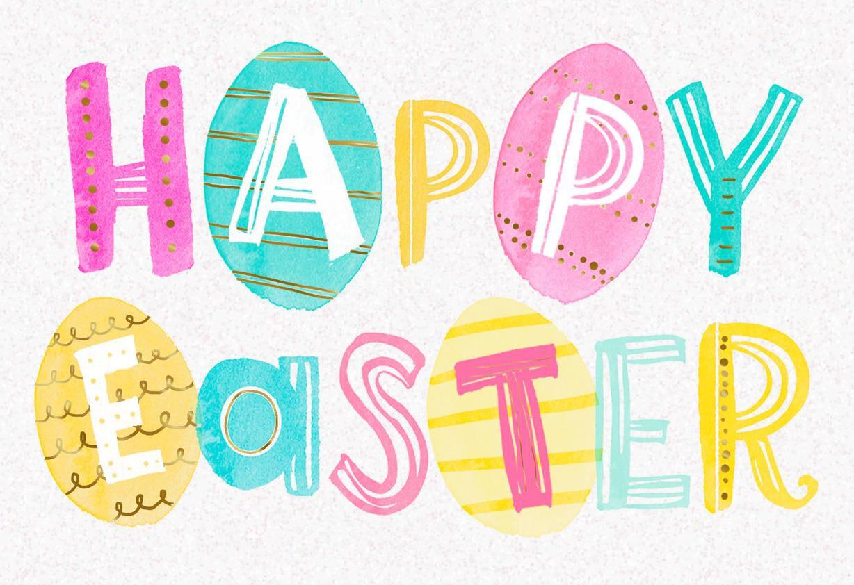 Pastel Egg Letters Easter Card Greeting Cards Hallmark – Hallmark Easter Cards