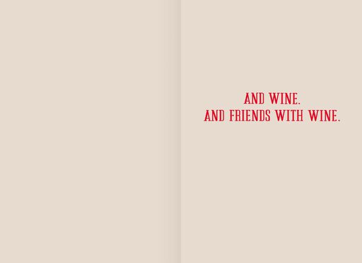 Friends and Wine Valentine's Day Card,
