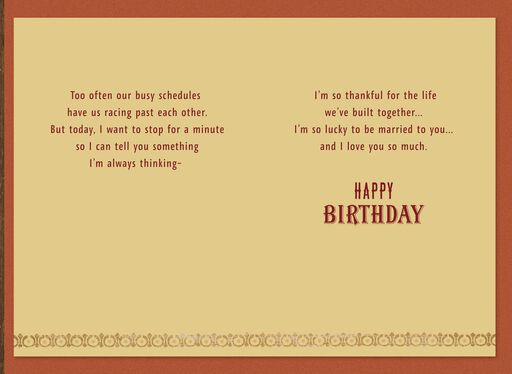 Lucky And Thankful Birthday Card For Husband