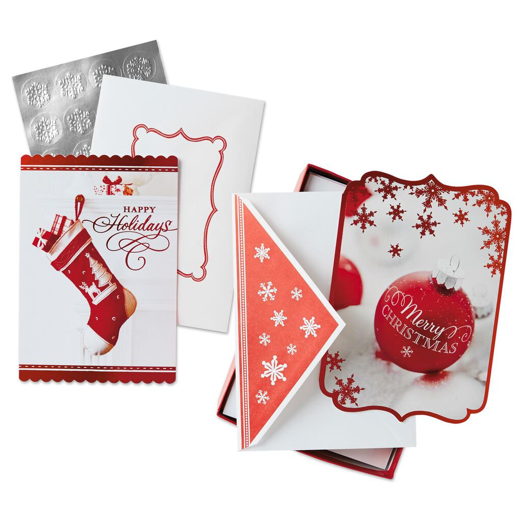 Holiday Wishes Assorted Christmas Cards, Box of 40 - Boxed Cards ...