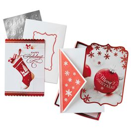Holiday Wishes Assorted Christmas Cards, Box of 40, , large