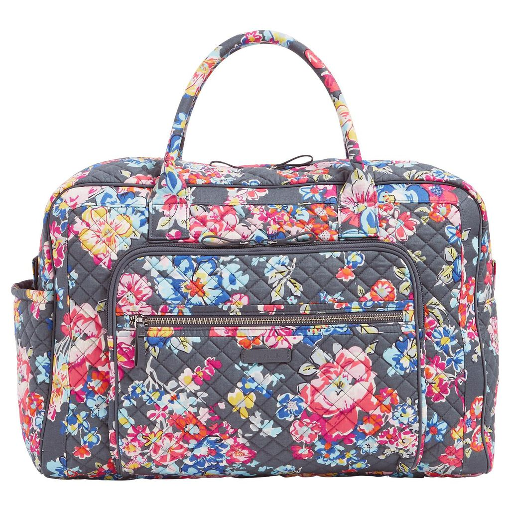 9ef72e95f02a Vera Bradley Iconic Weekender Travel Bag in Pretty Posies - Travel ...