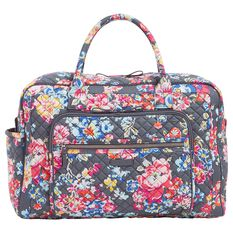 Vera Bradley Iconic Weekender Travel Bag in Pretty Posies - Travel -  Hallmark 30b2951cafb8a