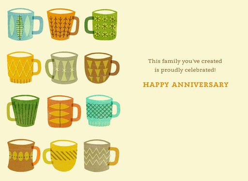 Celebrate Family Anniversary Card,