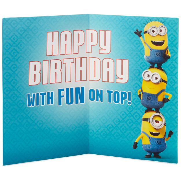Despicable Me Minions Birthday Card With Light and Sound Backpack – Despicable Me Birthday Card