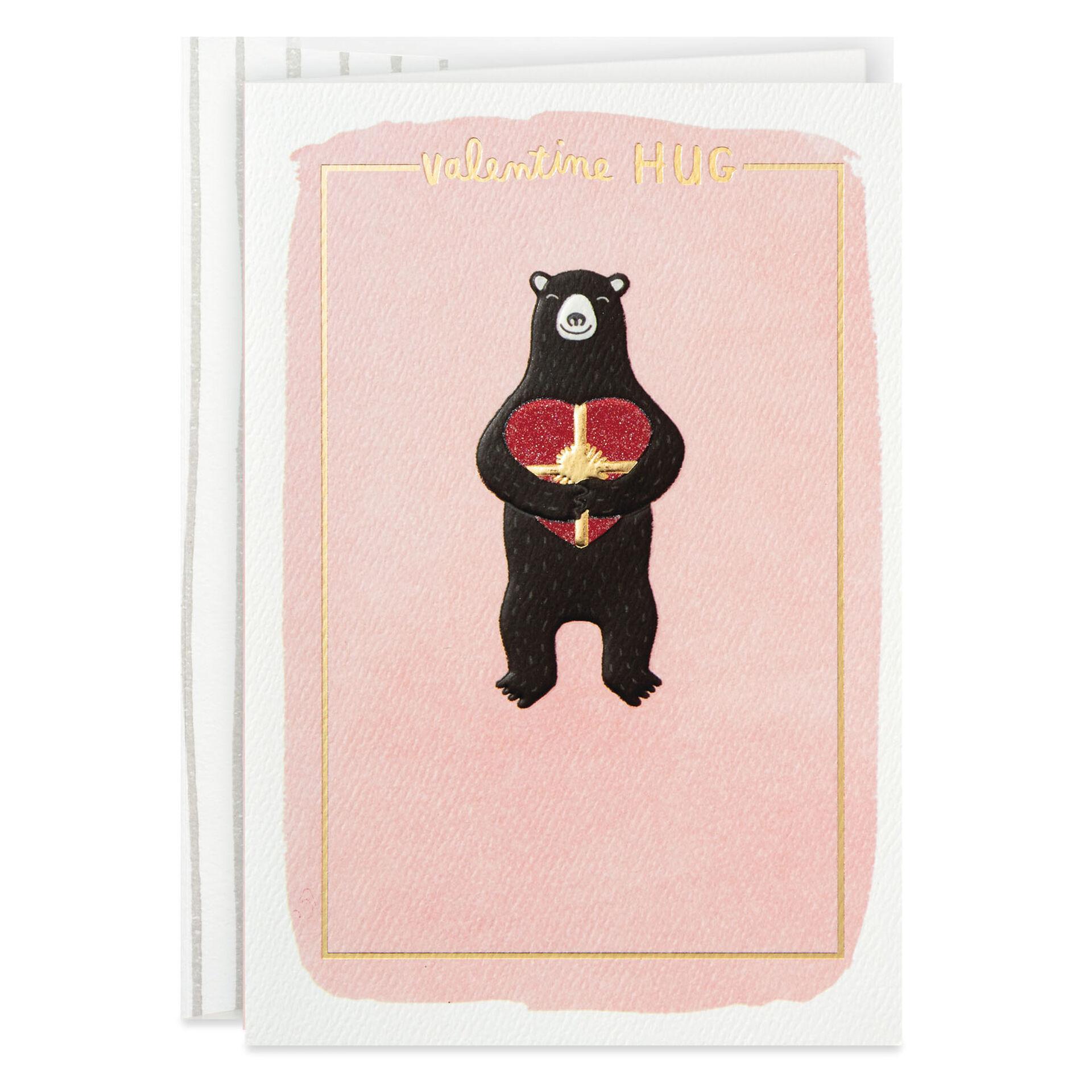 Cuddling Bears Personalised Valentines Greetings Card
