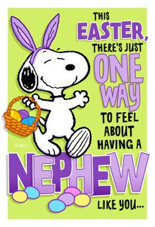 Peanuts® Snoopy Easter Card For Nephew,