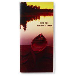 Canoe at Sunset Monthly Calendar Planner, 2018 – 2019, , large