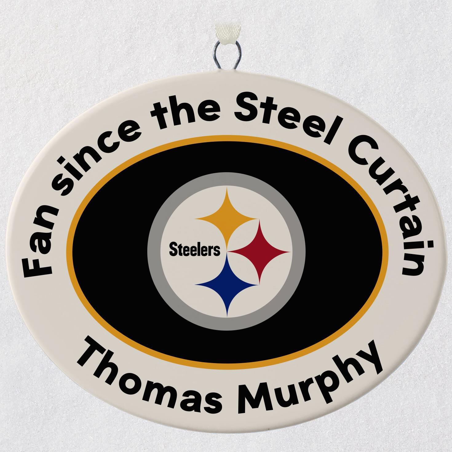 Steelers Christmas Ornaments.Nfl Football Pittsburgh Steelers Ceramic Personalized Ornament