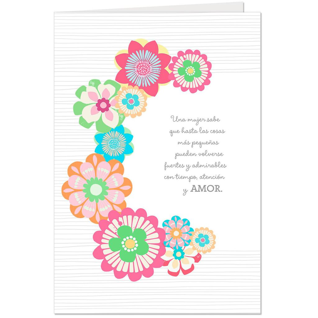 My Beautiful Inspiration Pop Up Spanish Language Birthday Card For