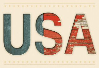 Patriotic USA Blank Card,