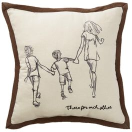 """There for Each Other Decorative Pillow, 14.5"""" Square, , large"""