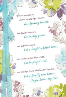 We Are Better Together Religious Mother's Day Card,