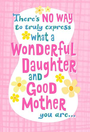 Mother's Day Card for a Wonderful Daughter