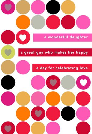 For Our Daughter and Her Great Guy Valentine's Day Card