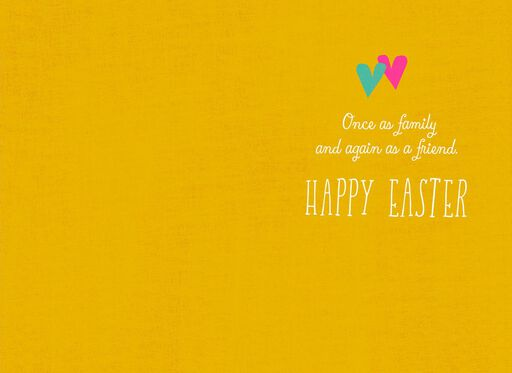 You're in My Heart Twice Family and Friend Easter Card,