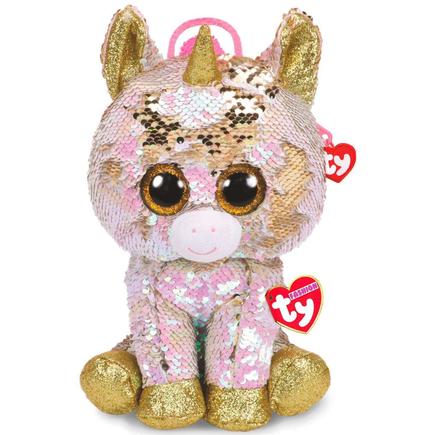 Ty Fashion Fantasia Unicorn Sequin Backpack - Plush Toys - Hallmark 3f01f079d5e