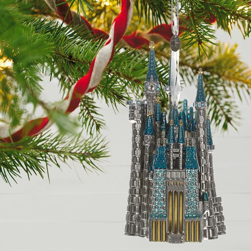 ... Disney Cinderella's Castle Metal Ornament, - Disney Christmas Carolers Merry Mickey Musical Ornament With Light