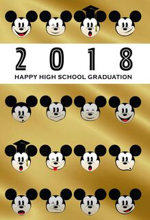 Mickey Mouse 2018 High School Graduation Card,