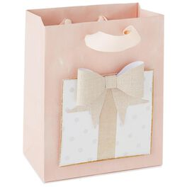 "Present With Bow Small Gift Bag, 7"", , large"
