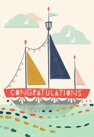 Sailboat of Happiness Congratulations Card