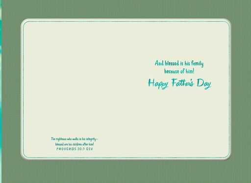 Blessings of a Father Religious Father's Day Card,