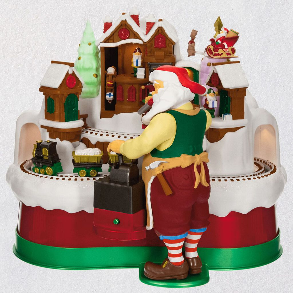 Santa's Magic Train Musical Tabletop Decoration With Light and Motion
