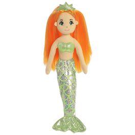 """Aurora World Sea Sparkles Amber Mermaid 10"""" Stuffed Doll, , large"""