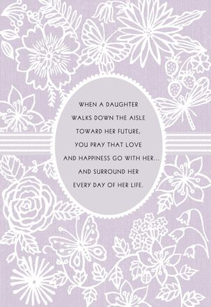 Blessings and Love Wedding Card for Daughter