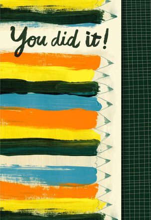 You Did It! Congratulations Card