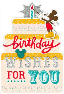 Mickey Mouse Birthday Wishes Card,