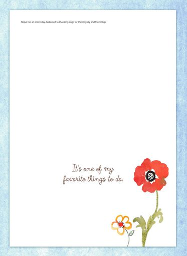 Puppy and Flowers Friendship Card,