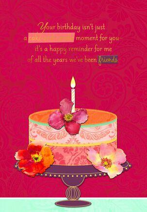Birthday Cake and Friendship Birthday Card