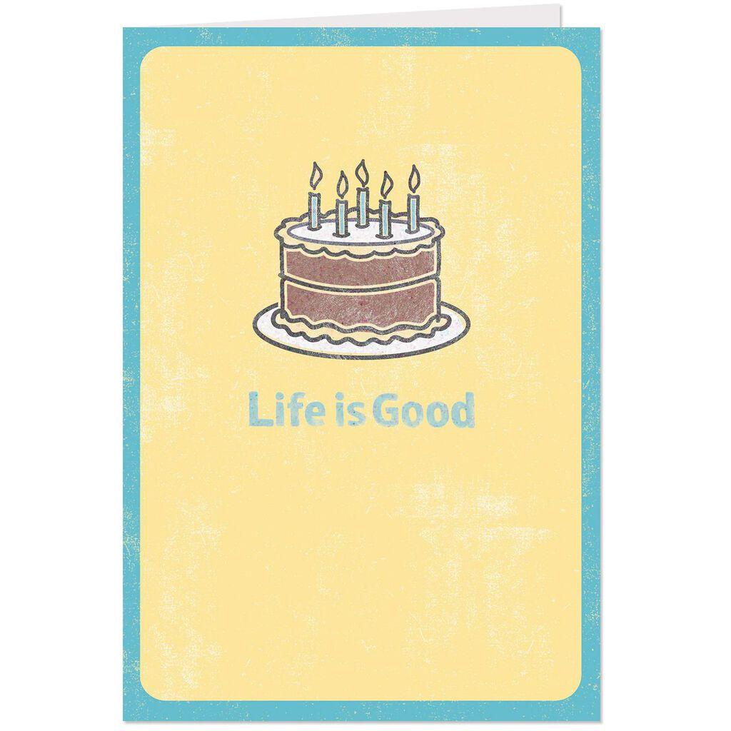 Life Is GoodR Slice Of Happy Birthday Card