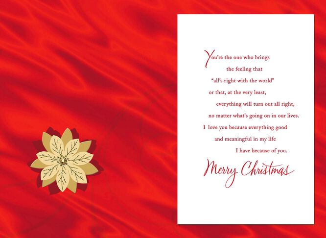 All because of you romantic christmas card greeting cards hallmark all because of you romantic christmas card m4hsunfo Gallery