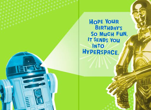R2-D2™ and C-3PO™ Free to Party Birthday Sound Card,