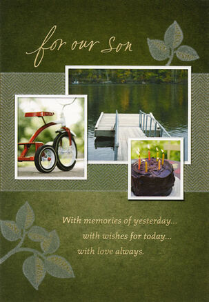 Son and Cherished Memories Birthday Card