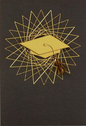 Hats Off to You Graduation Card