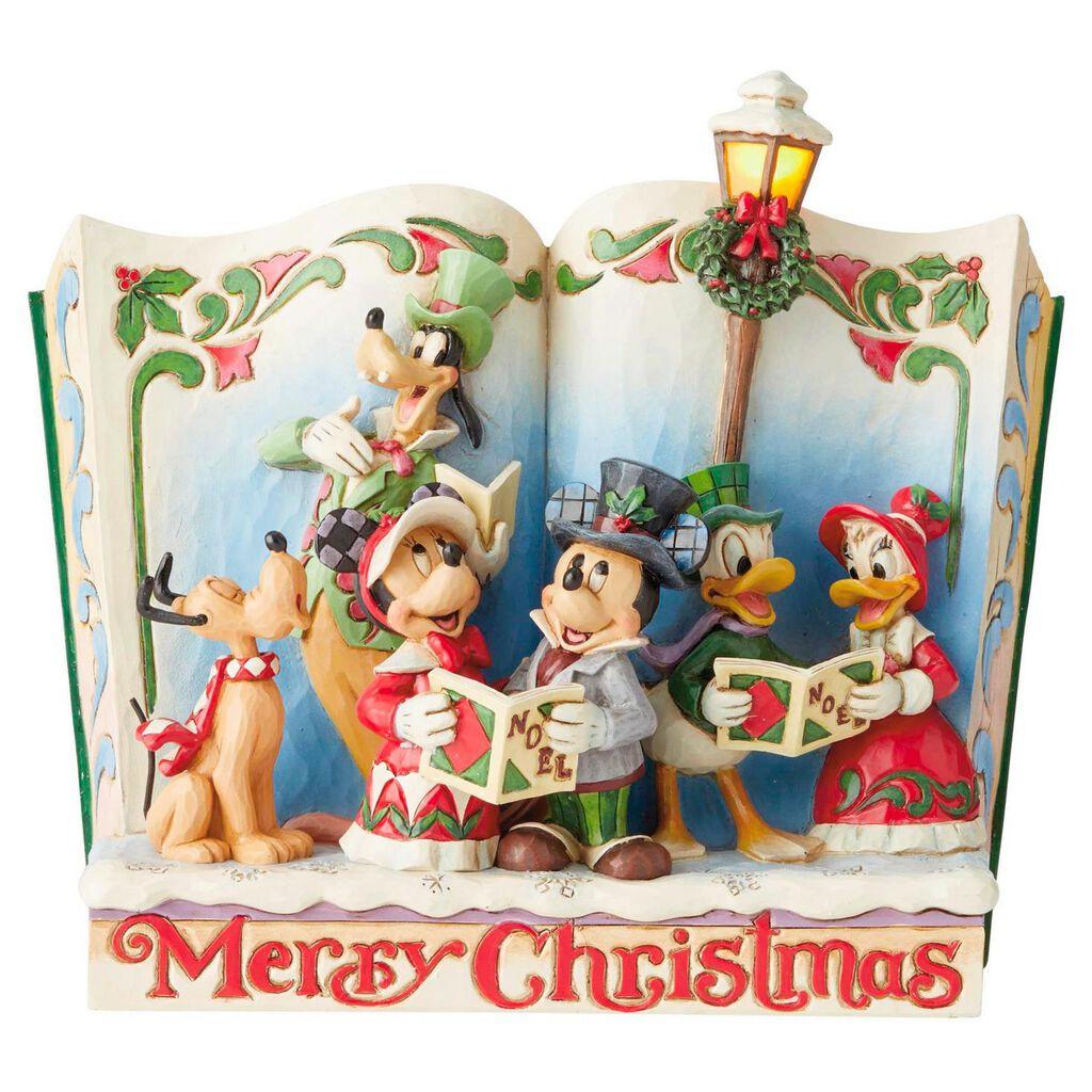 Disney Christmas Pictures.Jim Shore Disney Gang Storybook Christmas Carol Figurine 7 5